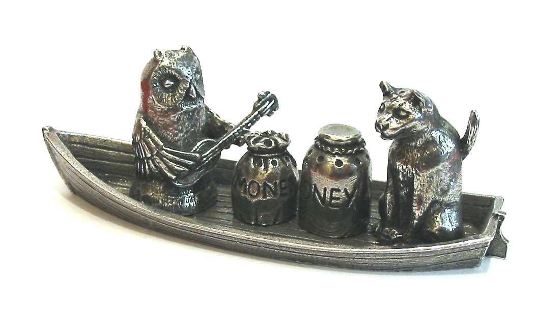 Owl & The Pussycat Thimble Set Collectible Thimble Gift
