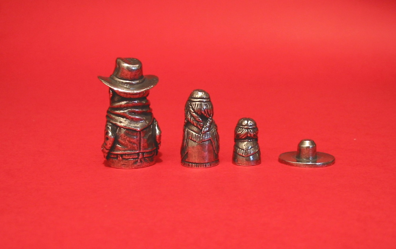 Cowboy & Indians Russian Doll Thimbles Collectible Thimble Gift