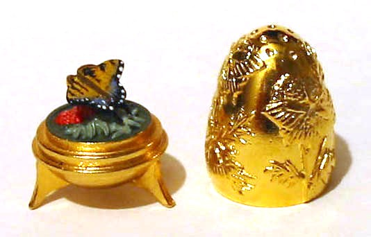 Butterfly Gold Plated Egg Thimble Collectable