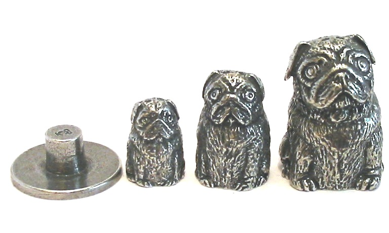 Pug Russian Doll Thimble Pewter Collectible Thimble Pug Gift