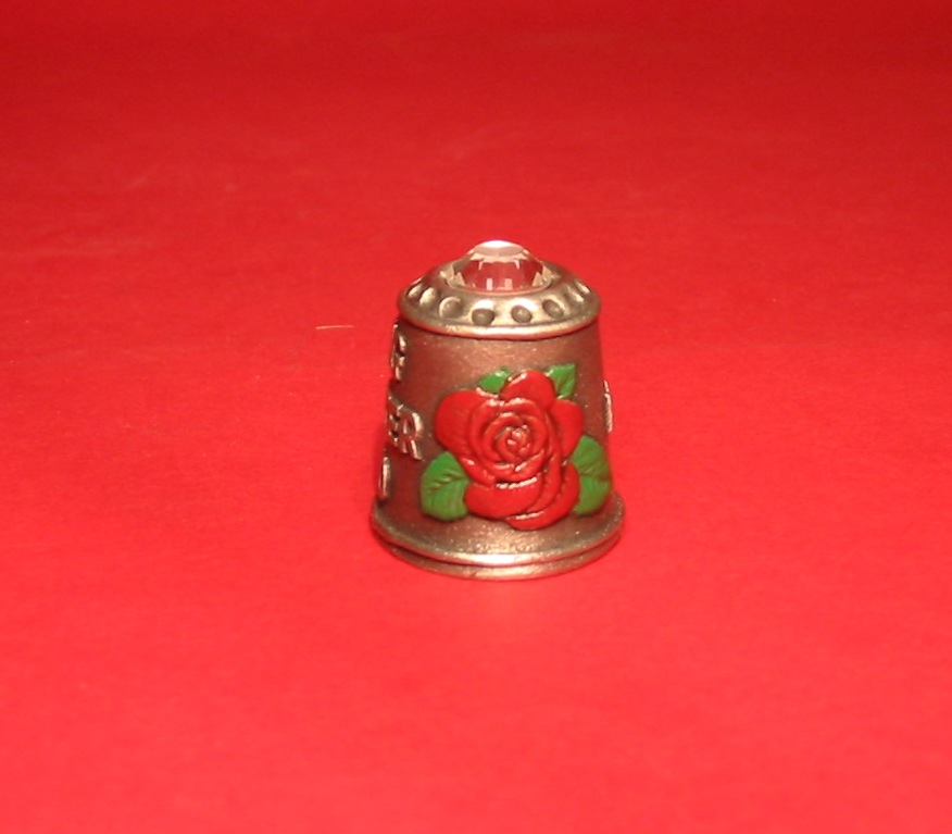 Mother's Day Thimble Pewter Collectible Thimble Gift