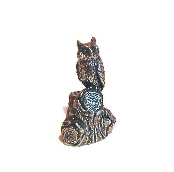 The Long-eared Owl Pewter Thimble Collectable