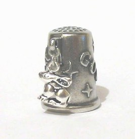 The Rabbit Silver Charm Collectable Thimble
