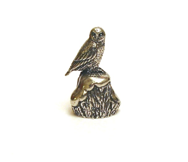 The Snowy Owl Thimble Pewter Collectible Thimble