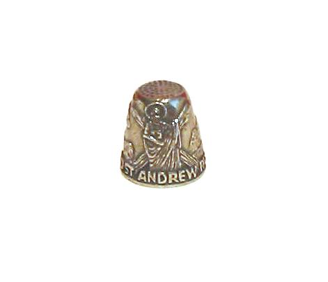 The St Andrew Thimble Patron Saint Collectible Thimble