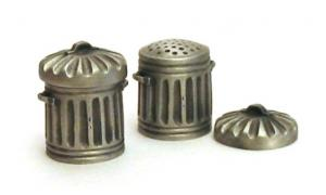 Dust Bin Thimble Pewter Collectible Thimble Trash Can