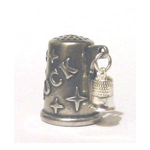 Miniature Silver Thimble Charm Collectible