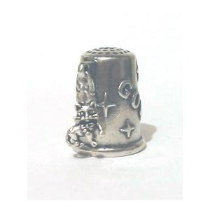 the Silver Cat Charm Collectablr Thimble