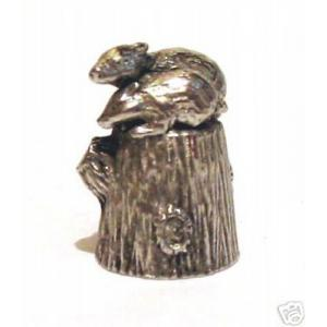 Pewter Badger Thimble gift wildlife countryside folk
